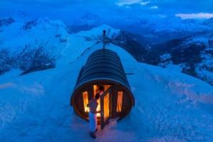 sauna in the sky